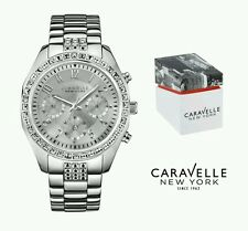 Caravelle New York Ladies Melissa Stainless Steel Chronograph Wrist Watch. NEW.