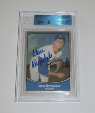 1990 DODGERS Don Drysdale signed card Pacific #29 AUTO JSA Slab Autographed (D)