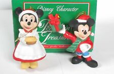 Grolier Disney MICKEY AND MINNIE Mouse Pie Present Porcelain Christmas Ornaments