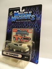 Muscle Machines '69 Camaro 00-1~1:64***RARE BARE METAL ISSUE***MOC
