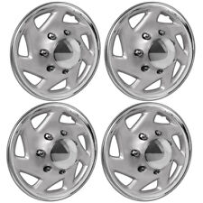 Hubcaps Fits Chevrolet Malibu Set of 4 Wheel Covers 16 inch Snap On Silver