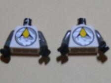 Lego 2 torses blancs / 2 white torsos from minifig set 6815 6958 6982