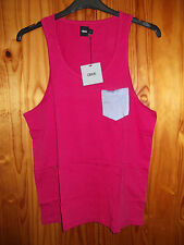 Asos Size M 38 - 40 inch Cotton Vest with Patch Pocket Deep Pink
