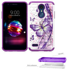 Phone Case For LG Phoenix Plus - AT&T PREPAID Dual-Layered Crystal Cover