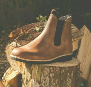 Leather Chelsea Boots with Recycled Car Tyres Rubber Soles Portugal Traditional