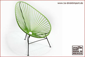Original Acapulco Chair Sessel - hellgrün schwarz - Direktimport aus Mexiko
