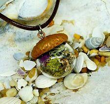Unique Acorn Terrarium Necklace Pendant