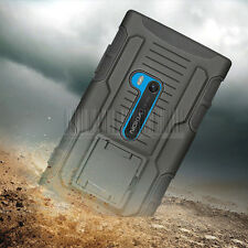 For Nokia Lumia 920 Rugged Hybrid Armor Impact Case Hard Cover Holster
