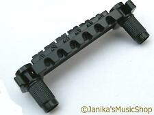ELECTRIC GUITAR BLACK WRAPAROUND HARDTAIL WRAP BRIDGE HARD STOP TAIL PIECE NEW