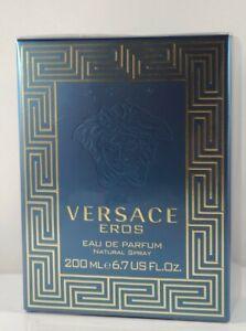 Versace Eros 200ML 6.7 Eau De Parfum Spray For Men New Sealed Box