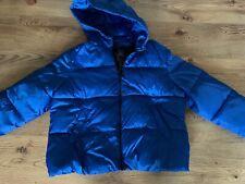 Primark blue Down Hooded jacket worn once Large