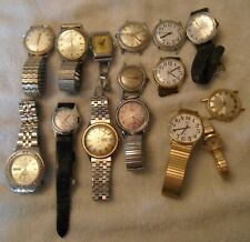 15 OLD WATCHES -  As Is Lot Timex - Free Priority Shipping