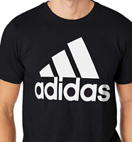 Adidas Men's Tee Shirt Badge of Sport Classic Black White Assorted Sizes CE5312