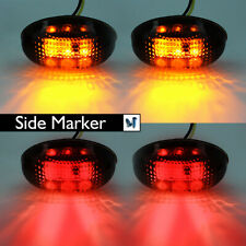 4x LED Fender Side Marker Lights Smoked Lens Amber Red Color For Ford F350 F550