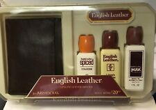English Leather Genuine Leather Wallet Set by Aristocrat vintage