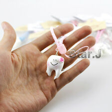 2pc Dental Cell Phone Chain Hang Rope Strap Ring Clinic Gift Tooth FREE SHIPPING