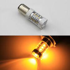 2pcs 80W bau15s  Cree XBD LED Bulb High Power Turn Signal Backup Light Amber