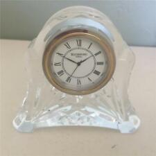 Waterford Crystal Abbey Pattern Vanity or Desk Clock - Marked Ireland