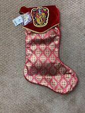 Universal Studios Harry Potter Gryffindor Christmas Stocking NWT Holidays