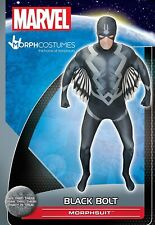 Nuevo Marvel Morphsuits Perno Adulto Negro Fancy Dress Costume Tamaño X-L