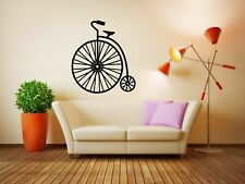 Wall Decal Sticker Bedroom retro bicycle bike vintage old fashion circus bo2802