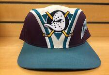 Rare New NWT 90's Vintage Mighty Ducks Snapback Cap NHL Hockey 90s Duck Hat VTG