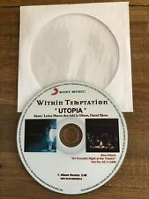 Within Temptation- Sharon den Adel: UTOPIA- VERY RARE CDr PROMO - POLAND