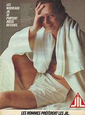 PUBLICITE ADVERTISING  1983   JIL  sous vetements caleçons