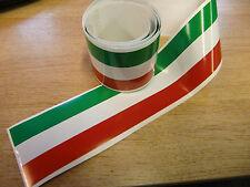 Italiano flagstripe Stripe Cinta - 4 Pies X 2 In-Rojo / Blanco / Verde