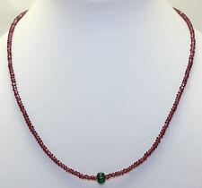 Natural Rhodolite Collar granate tallado en Facetas Esmeralda piedras preciosas