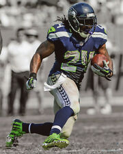 Seattle Seahawks MARSHAWN LYNCH Glossy 8x10 Photo 'Spotlight' Football Print