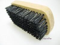 Gent's Reinforced Boar Bristle Military Grooming Hair & Beard Brush Hard Or Soft