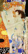 "GUSTAV KLIMT :: MOTHER AND CHILD ( BABY ) MOTHERHOOD : 24"" FINE ART CANVAS PRINT"