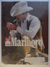 1989 Print Ad Marlboro Man Cigarettes ~ Western Cowboy Vest