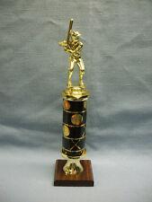 male Baseball trophy award theme column black