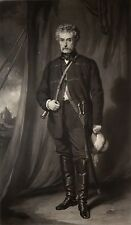 Exceedingly Rare Mezzotint Portrait of Sir Colin Campbell by Samuel Cousins FINE