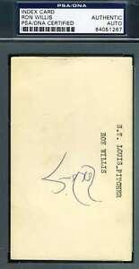 Ron Willis Psa Dna Coa Autograph 3x5 Index Card Hand Signed Authentic
