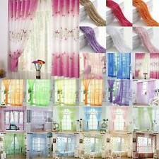 Solid Net Voile Screening Windows Curtains Sheer Drape For Living-room Bedroom