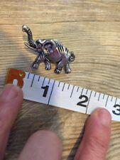Pin Euc Silver Toned 3a J. Crew Rare Elephant