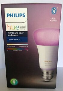 Philips Hue White and Color Ambiance LED E27 Einzelpack