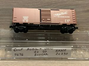N Scale Kadee Gulf Mobile & Ohio #5676 40 Standard Box Car 20230 The Rebel Route