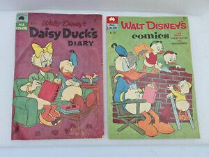 RARE VINTAGE WALT DISNEY'S COMICS/DAISY DUCK Double Comic Australian 1960s