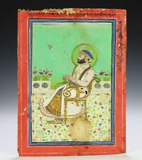 Antique Indian Persian Painting of Seated Figure
