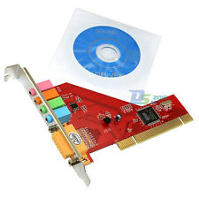 MIDI 4 Channel 3D Audio PC Sound Card 15-Pin Mini Port PCI Adapter for PC Laptop
