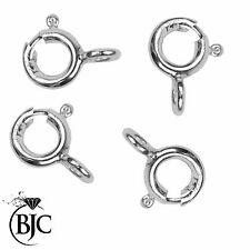 Solid Sterling Silver Closed Bolt Rings for Necklace / Bracelet Closing Catch