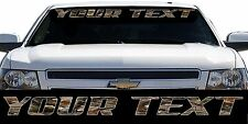 Chevrolet Ford Dodge Pickup Truck Chevy Camo Windshield Decal Sticker Banner