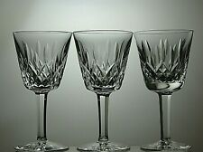 "WATERFORD CRYSTAL LISMORE CUT  WINE GLASSES SET OF 3 - 5 3/4""(14.5 cm)TALL"