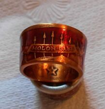 MOLON LABE ( Come & Take It ) Handcrafted Ring W Powder Coatings