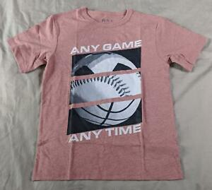 The Children's Place Boy's Any Game Any Time T-Shirt OM7 Hampton Red Medium NWT