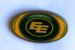 Edmonton Eskimos Vortex oval CFL football logo pin made by Hunter